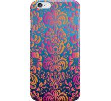 Elegant Colorful Girly Pink Orange Damask Floral iPhone Case/Skin