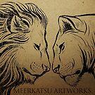 Lion King and Queen by Meerkatsu
