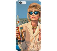 Joanna Lumley as Patsy Stone painting iPhone Case/Skin