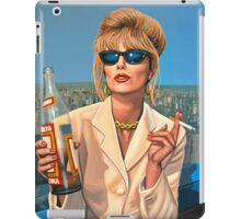 Joanna Lumley as Patsy Stone painting iPad Case/Skin