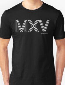 Momentum: Mass X Velocity [MXV] Outline [White Ink] T-Shirt