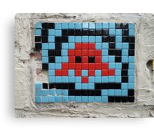Blue Invader Canvas Print