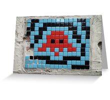 Blue Invader Greeting Card