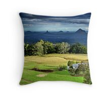 Farm wih a view Throw Pillow