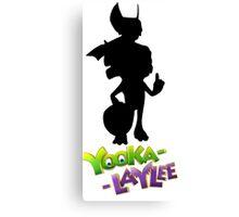 Yooka-Laylee Silhouette Canvas Print