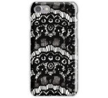 Elegant French Girly Floral Black Lace iPhone Case/Skin