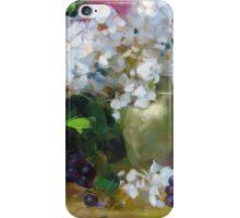 Golden Hydrangea Squared iPhone Case/Skin