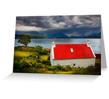 Loch Torridon, Summer Storm approaching. North West Scotland. Greeting Card