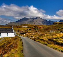 The Cuillin Mountains from Merkadale, Talisker, Isle of Skye, Scotland by photosecosse /barbara jones