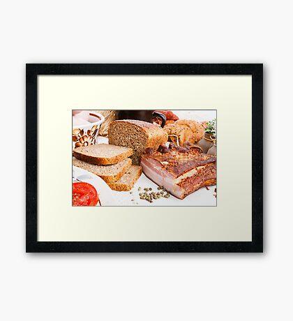 Smoked pork  Framed Print