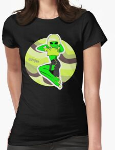 Alien Pin Up Womens Fitted T-Shirt
