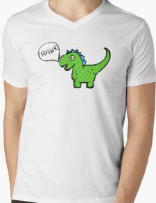 Dino-Rawr Mens V-Neck T-Shirt