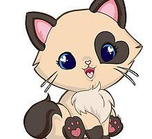 Mochi Kitten Smile by Valerie Flynn