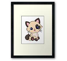 Mochi Kitten Smile Framed Print
