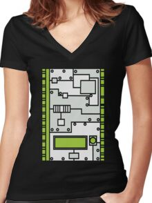 Metal Lab - Ghost Gear Green v2.1 - Danny Phantom Women's Fitted V-Neck T-Shirt