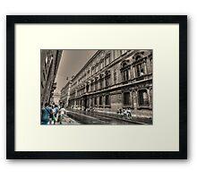 via del corso .. Roma Framed Print