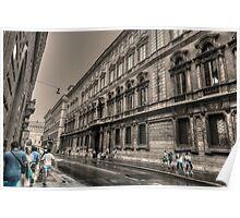 via del corso .. Roma Poster