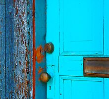 Turquoise Door by Linda Gregory