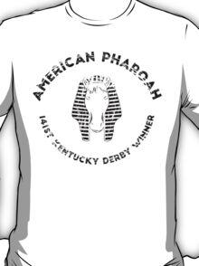 AMERICAN PHAROAH Kentucky Derby Winner - Black T-Shirt