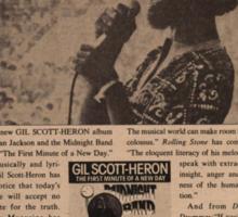 Gil Scott-Heron - We Beg Your Pardon America Sticker