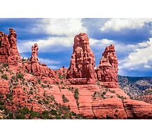 Sedona Rocks in their Brilliance Photographic Print