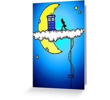 Doctor Who in the clouds Greeting Card