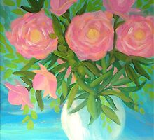 Pink Peonies by Lynn Wright