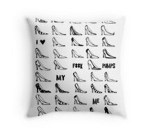 F*** Me Pumps Throw Pillow