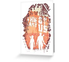 The last of us silhouette Greeting Card