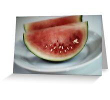 Sliced Melon Greeting Card