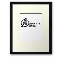 AVENGERS: ACTUALLY Framed Print