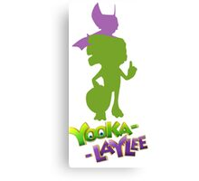 Yooka-Laylee Colored Silhouette  Canvas Print