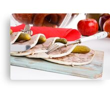Pudding  pork  Canvas Print
