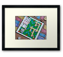 Playing Games Framed Print