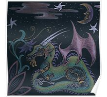 Shimmery Dragon Poster