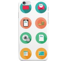Set of various flat Icons iPhone Case/Skin