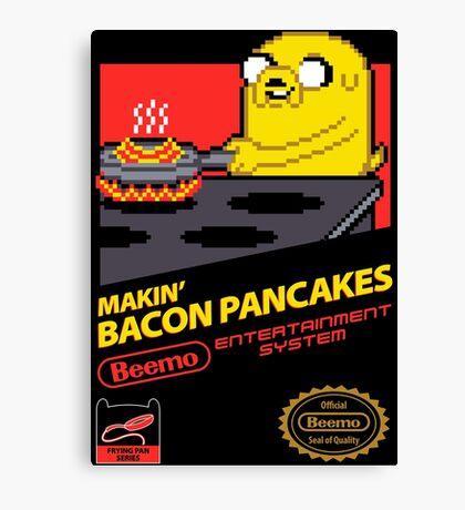 Super Makin' Bacon Pancakes Canvas Print