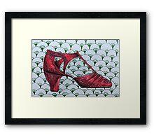 Retro Red Shoe Framed Print