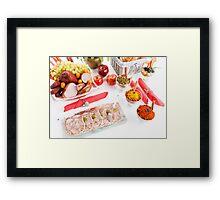 Pudding  pork  Framed Print