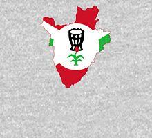 Flag Map of Burundi, 1962-1966 Flag  Unisex T-Shirt