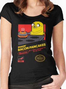 Super Makin' Bacon Pancakes Women's Fitted Scoop T-Shirt