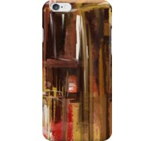 Red and Brown City Abstract iPhone Case/Skin