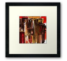 Red and Brown City Abstract Framed Print