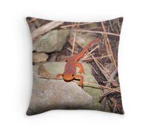 Red Eft Throw Pillow