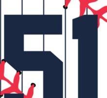 Bernie Williams Baseball Design Sticker