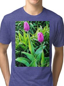 Two Tulips  Tri-blend T-Shirt