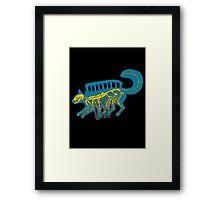 catbus x-ray blue Framed Print