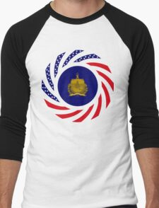 Vermont Murican Patriot Flag Series Men's Baseball ¾ T-Shirt