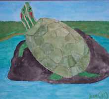 Fred The Turtle  don't Laugh but she's a girl by JennFamousArt