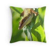 Anole Throw Pillow